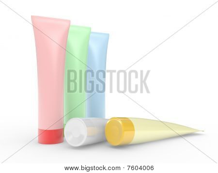 Colour Tubes For A Cream