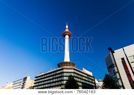 Kyoto Tower In Kyoto.
