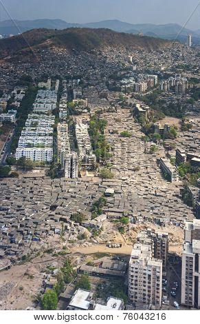 Aerial View Of Mumbai Slums