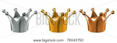 golden crown isolated over white background