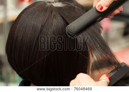 Straightening Short Hair