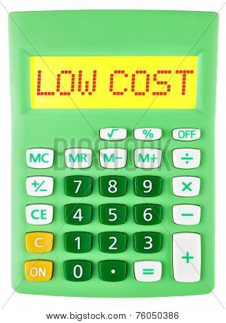 Calculator With Low Cost On Display Isolated