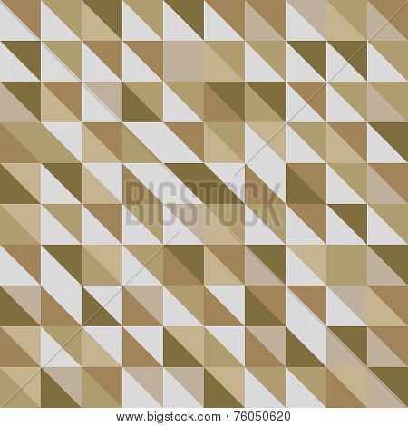 Retro Triangle Pattern With Brown Background