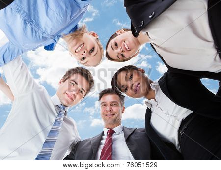 Businesspeople Looking Down