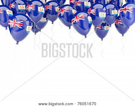 Balloon Frame With Flag Of Anguilla