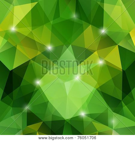 Modern Abstract Geometric Green Background