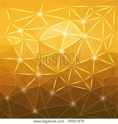 Modern Abstract Geometric Yellow Background