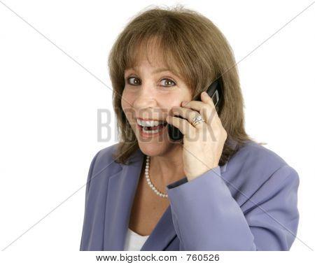 Businesswoman On Cellphone - Surprised