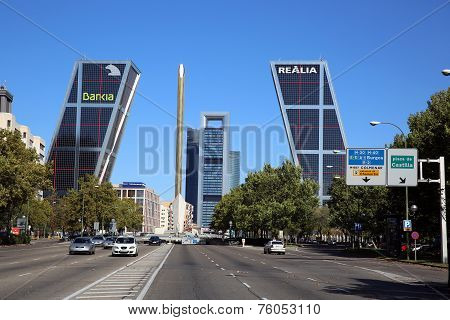 Puerta de Europa with Business Towers