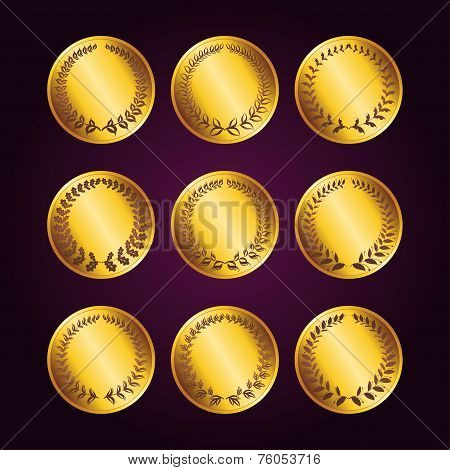 Set Of Luxury Gold Labels