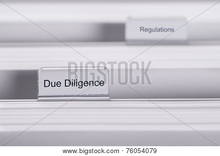 Due Diligence And Regulations Folders