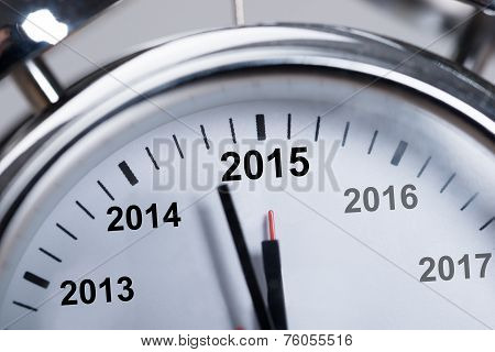 Happy New Year 2015 In Alarmclock