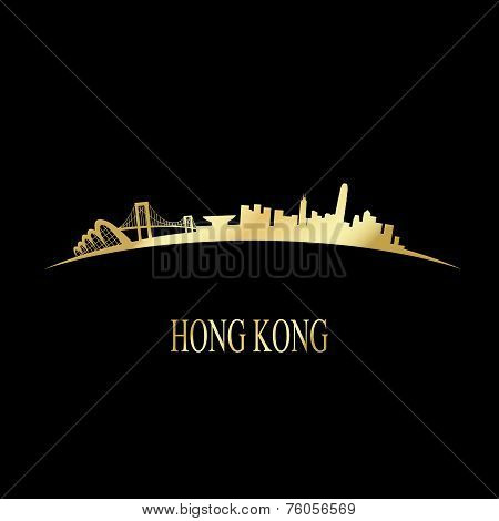 Luxury Golden Hong Kong Skyline
