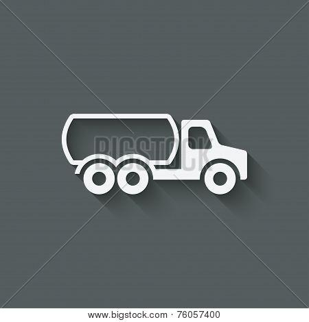 fuel truck symbol
