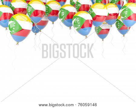 Balloon Frame With Flag Of Comoros