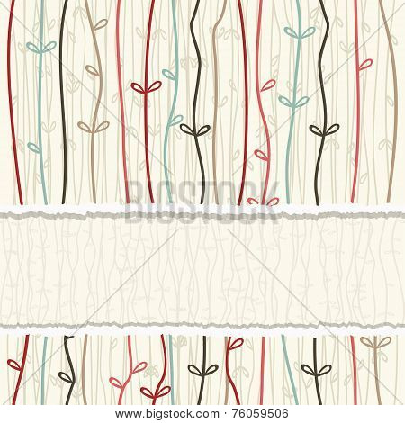 Card With Seamless Colorful Abstract Pattern