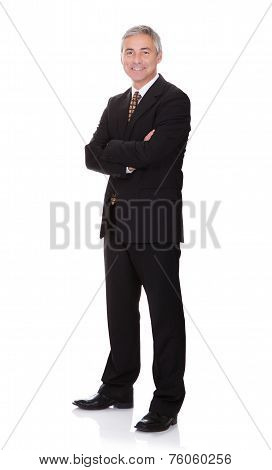 Successful Businessman On White Background