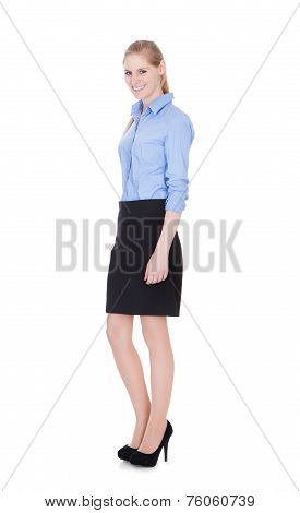 Businesswoman Standing In Pose