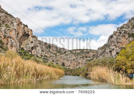 Preveli Lake And Palm Forest