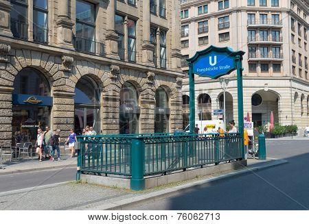 Subway Entrance In Berlin