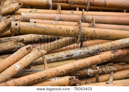 old metal water pipes