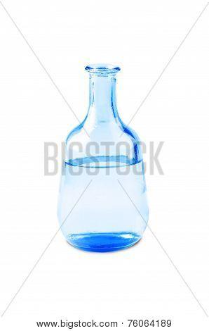 Blue Vase Isolated On A White Background