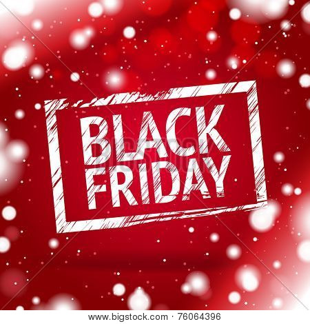 black Friday red background