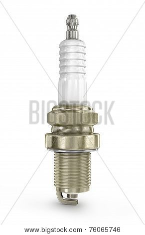 Spark plugs in white background/ Spark Plugs