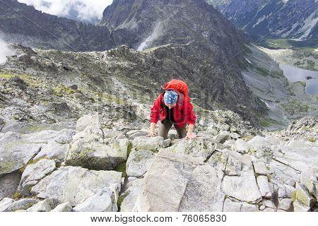 Girl Is Climbing