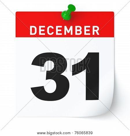 December 31 Calendar