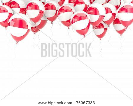 Balloon Frame With Flag Of Greenland
