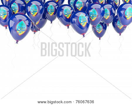 Balloon Frame With Flag Of Guam