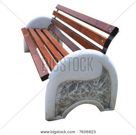 Limestone Park Bench