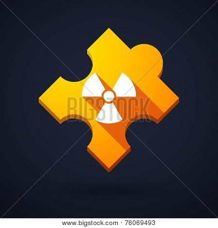 Puzzle Piece Icon With A Radioactivity Sign