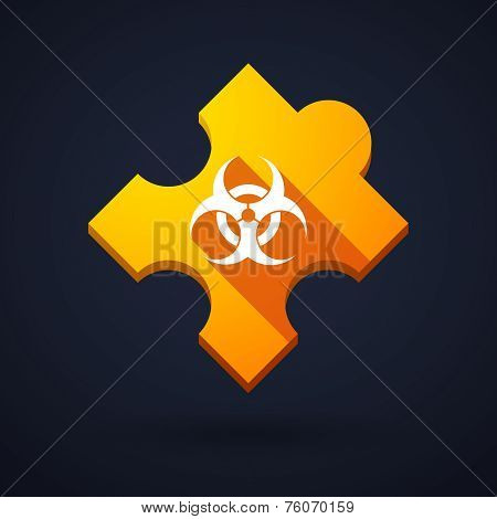 Puzzle Piece Icon With A Biohazard Sign