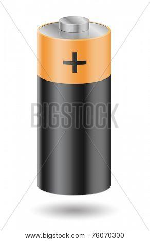 Battery on white - vector illustration