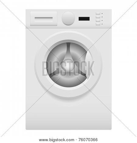 Washing machine on white - vector illustration