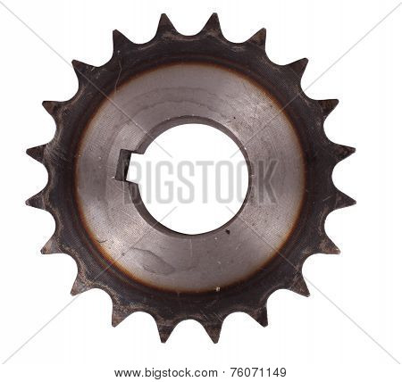 Metal black cogwheel isolated