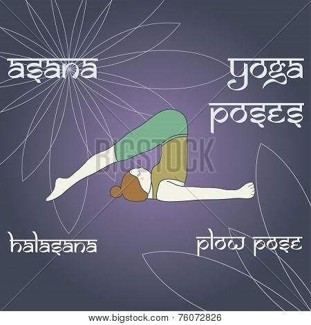 Halasana. Plow Pose.