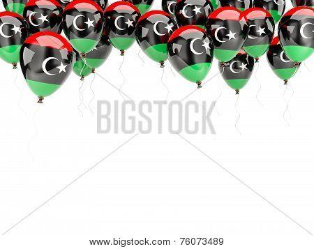 Balloon Frame With Flag Of Libya