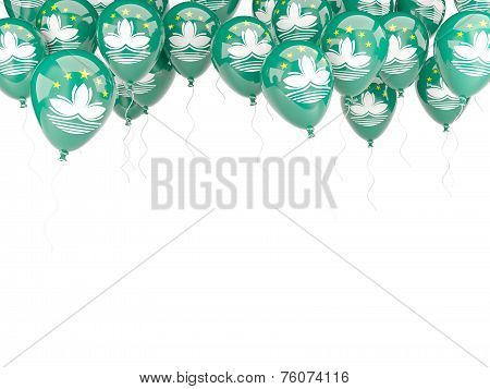 Balloon Frame With Flag Of Macao