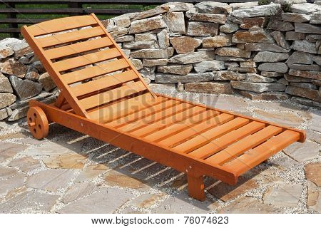 Sunlounger In The Garden
