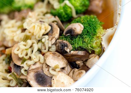 Healthy Japanese Ramen Noodles With Vegetables