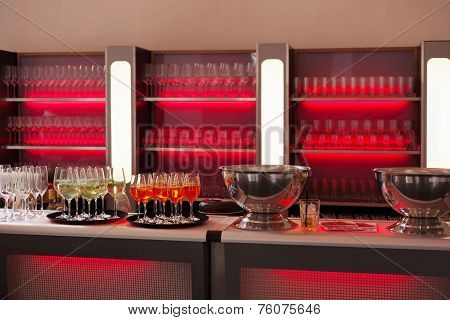 Bar With Red Backlight