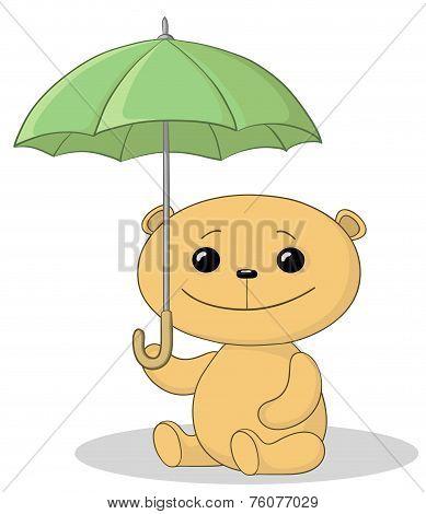 Teddy bear and umbrella