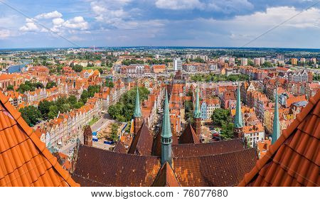 Gdansk, Aerial View, Poland