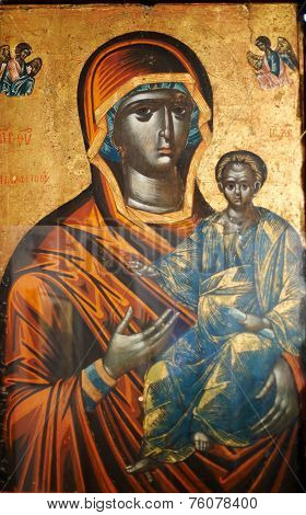Byzantine Icon Of The Black Virgin