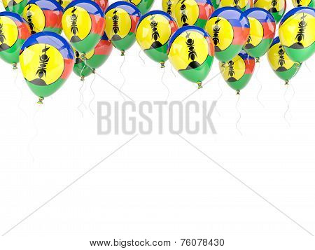 Balloon Frame With Flag Of New Caledonia