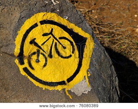 Mountain Bike Trial Sign