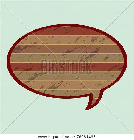 Speech Bubble In Wood Style